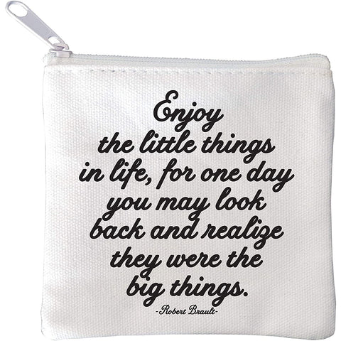Enjoy The Little Things Mini Pouch - Boyar Gifts NYC