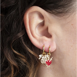 Load image into Gallery viewer, Fuck Off & Heart Earrings