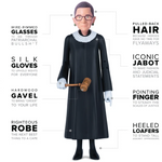 Load image into Gallery viewer, Ruth Bader Ginsburg Real Action Figures