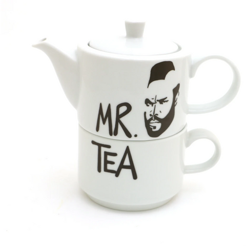 Mr Tea Teapot And Cup Set - Boyar Gifts NYC