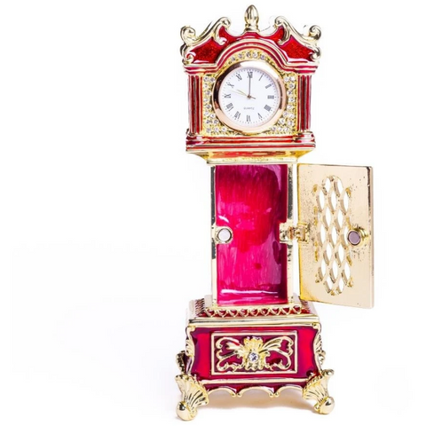 Red Big Ben Clock Trinket Box - Boyar Gifts NYC