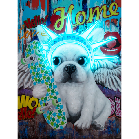 Liberty Dog Wall Art Neon - Boyar Gifts NYC
