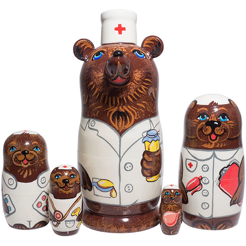 Nurse Bear Nesting Doll - Boyar Gifts NYC