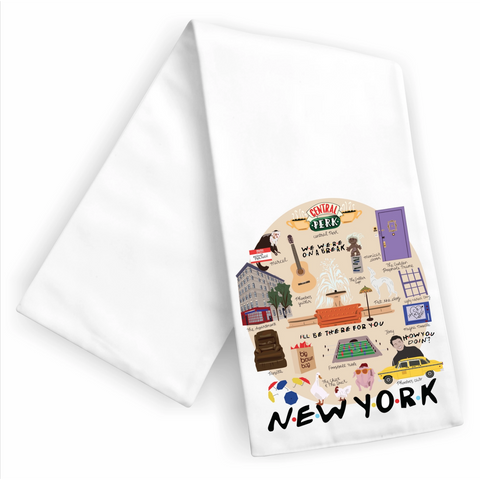New York Friends Dish Towel - Boyar Gifts NYC