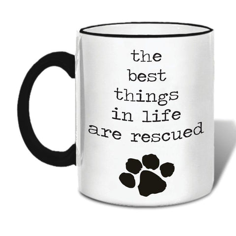 The Best Things In Life Are Rescued Mug - Boyar Gifts NYC