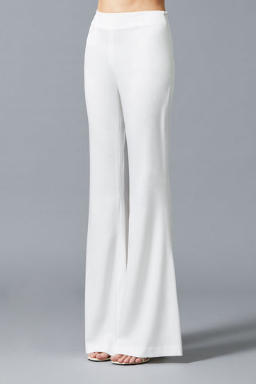 High Waisted Satin Trousers