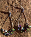 Stainless steel teardrop with Czech seed beads
