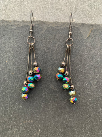 Rainbow crystal beaded