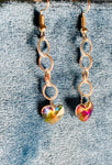 Rainbow heart & Silver Plated Chain