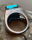 Reflection copper ring silver plated