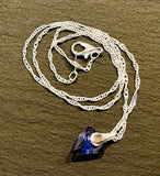Swarovski Tanzanite Purple Crystal Heart & Sterling Silver Twisted Chain