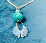 Lovely aqua drop pendant