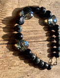 Magicical Black & Blue Czech Crystals