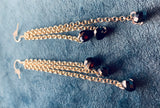Sterling Silver long line Black Czech Crystal