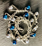 Sterling Silver adjustable with Electro Plated Besds
