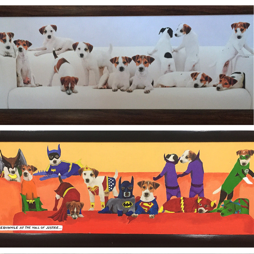 Puppy Hall Of Justice - commissioned redirect by artist Ange Beever
