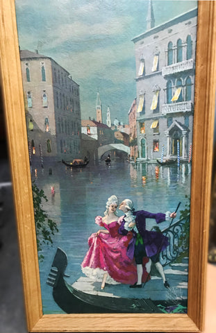 Venice print before Tube men in Venice redirected painting by Ange Beever