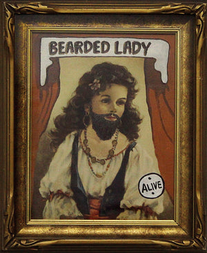 BVR ART Bearded Lady 2018 redirected painting by Ange Beever - print