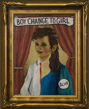 BVR ART Boy Change to Girl 2018 redirected painting by Ange Beever - print