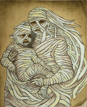 BVR ART Mummy & Child 2019 redirected painting by Ange Beever - print