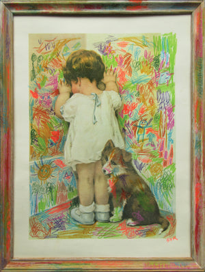 BVR ART Scribble Kid 2019 redirected painting by Ange Beever - print