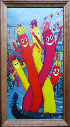 BVR ART Tube Men in Venice 2019 redirected painting by Ange Beever - print