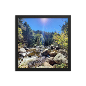 Fish Creek Falls Framed Poster