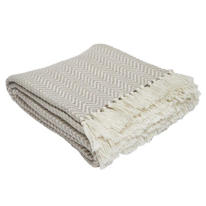 Weaver Green | Herrinbone Chinchilla Blanket