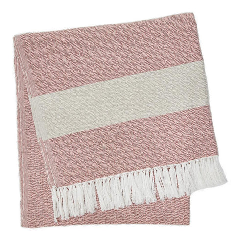 Weaver Green | Coral Hammam Throw