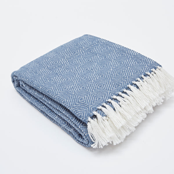 Weaver Green | Diamond Navy Blanket