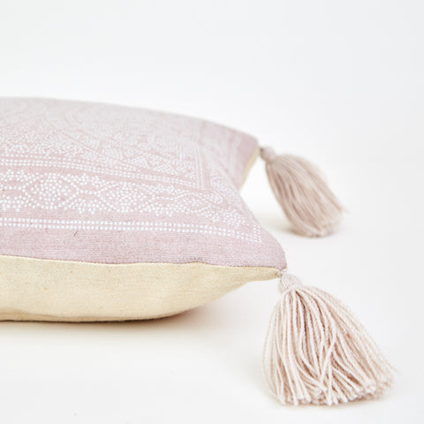 Weaver Green | Kas Shell Cushion - Soft Pink