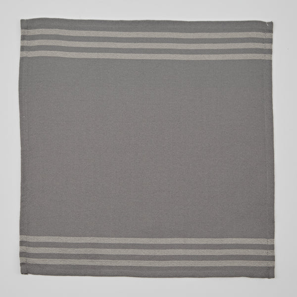 Weaver Green | 4 Grey & Linen Napkins
