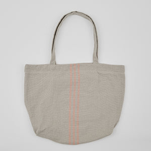 Weaver Green | Linen & Grey Beach Bag
