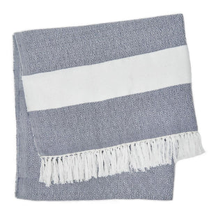 Weaver Green | Navy Hammam Throw