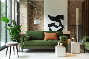 MODEL 02 SWYFT SOFA - VELVET VINE - 2 SEATER