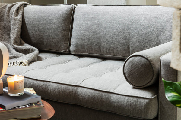 MODEL 02 SWYFT SOFA - LINEN SHADOW - 3 SEATER