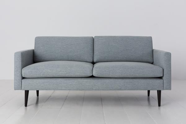 MODEL 01 SWYFT SOFA - LINEN SEAGLASS - 2 SEATER