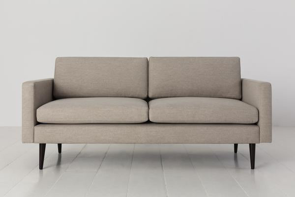 MODEL 01 SWYFT SOFA - LINEN PUMICE - 2 SEATER
