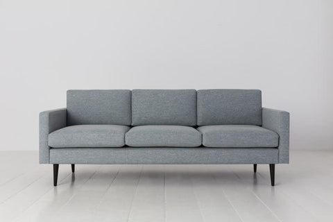 MODEL 01 SWYFT SOFA - LINEN SEAGLASS - 3 SEATER