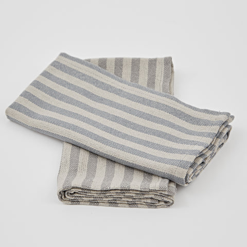 Weaver Green | 4 Blue Stripe Napkins