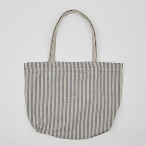 Weaver Green | Blue Stripe Beach Bag