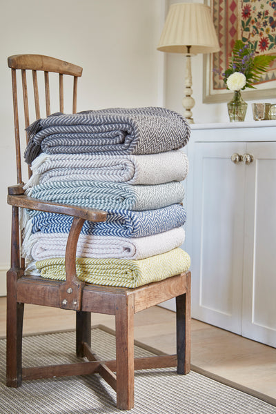 Weaver Green | Gooseberry Oxford Stripe Blanket