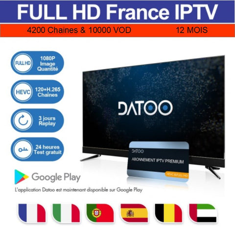 Code DaToo Player Abonnement 12 Mois IPTV