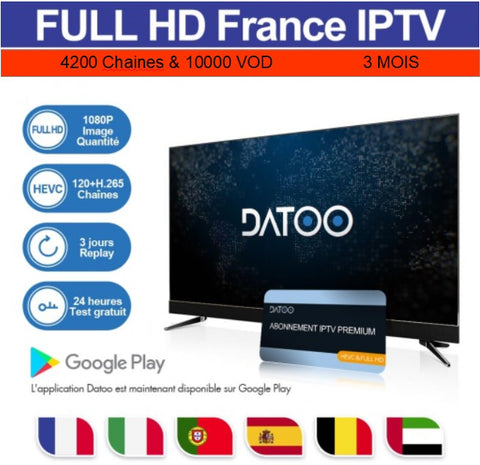 Code DaToo Player Abonnement 3 Mois IPTV