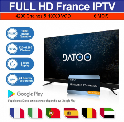 Code DaToo Player Abonnement 6 Mois IPTV
