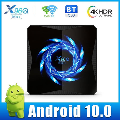Box X96Q MAX Android TV 4K UHD, WIFI, ANDROID 10