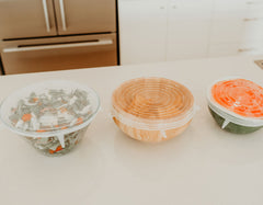 LARGE REUSABLE STRETCH LIDS - SET OF 3