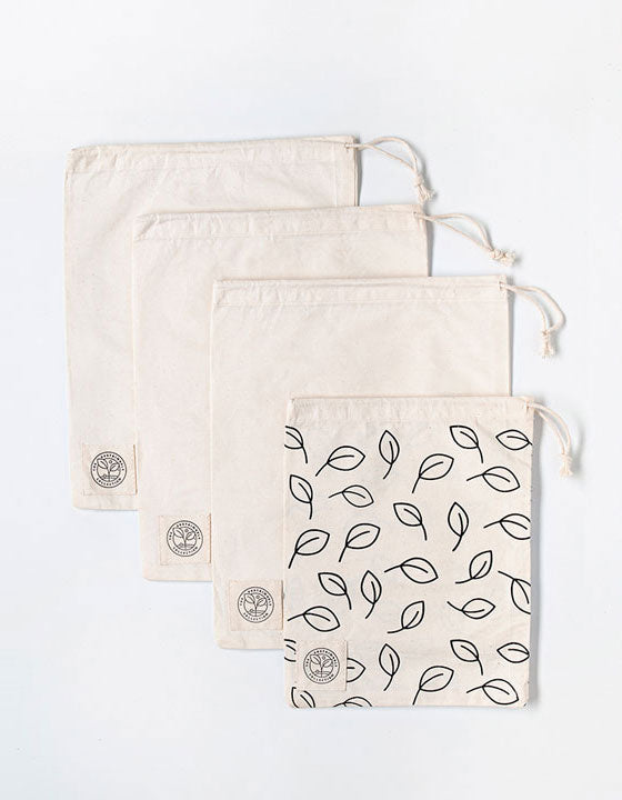 ORGANIC COTTON BULK FOOD BAG - SET OF 4