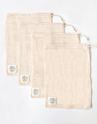 LARGE ORGANIC COTTON PRODUCE BAG - SET OF 4