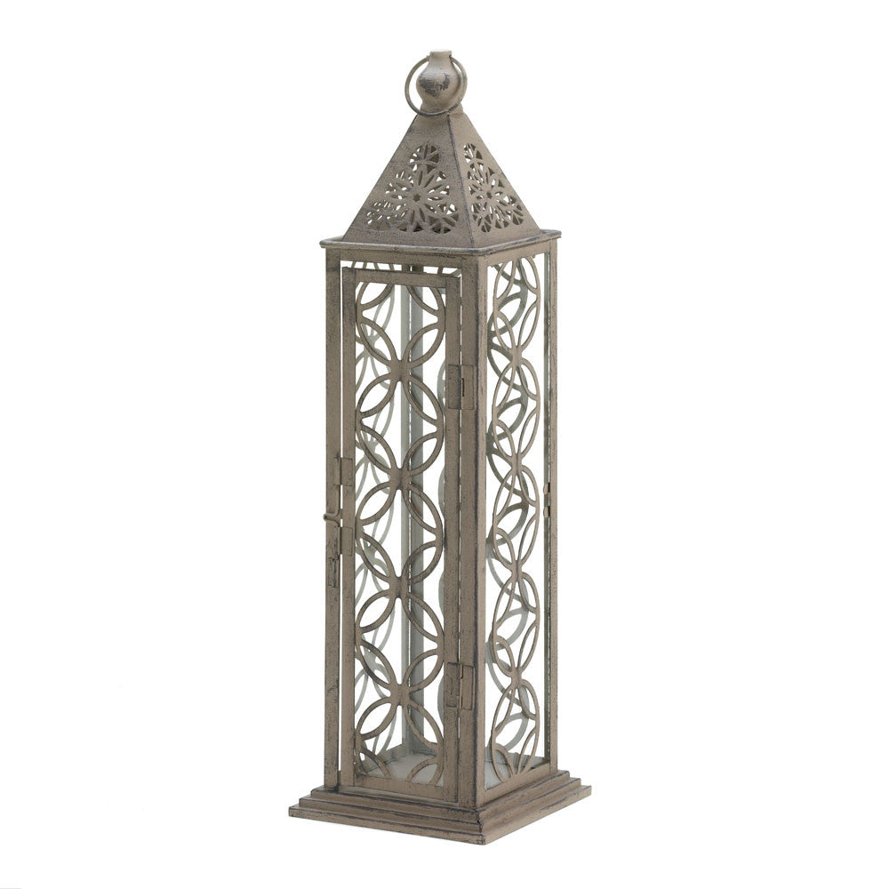 Gorgeous Antiqued Tall Distressed Finish Lantern